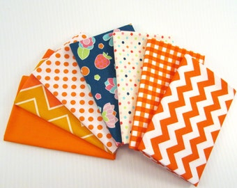 Riley Blake Flutterberry by Melly & Me Orange Fabric Bundle
