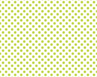 Riley Blake Small Dots Lime (C480-32)