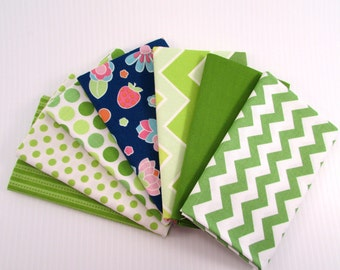Riley Blake Flutterberry by Melly & Me Green Fabric Bundle