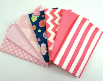 Riley Blake Flutterberry by Melly & Me Pink Fabric Bundle