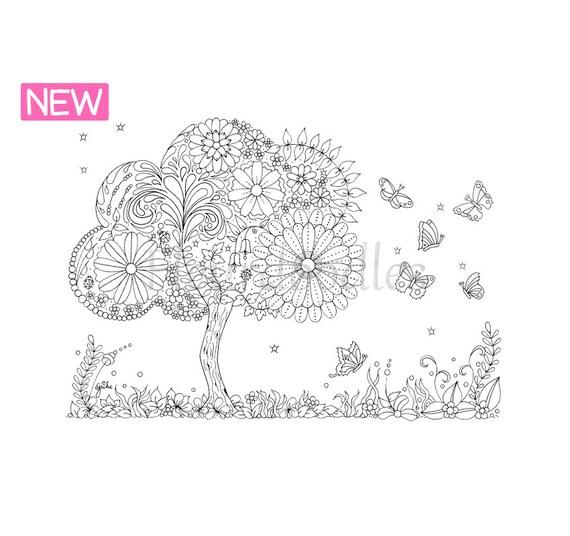 Doodle Tree 3 Malseite für Erwachsene Ausmalbilder zum | Etsy