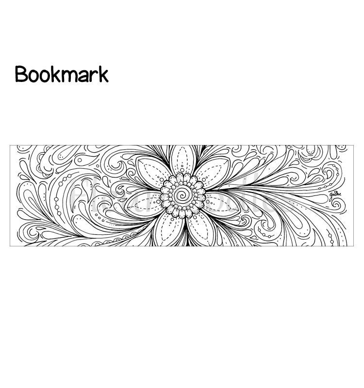 Lesezeichen Dream of a Flower Bücher Ausmalseiten Malseiten | Etsy