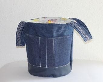 Project bag, knitting, crochet, drawstring bag, project bag, drawstring bag, knitting, crochet, knittingproject bag, projectbag