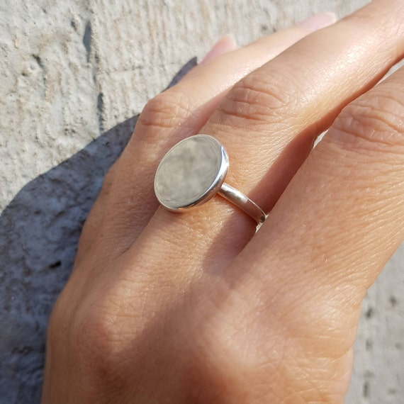 handmade ring round silver wire Sterling Silver minimal silverring triggerfinger ring minimal jewelry Simple silverring Stacking Ring