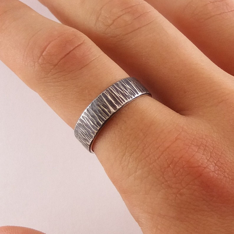 hammered silver ring black mens ring Sterling silver mens ring mens jewelry Mens band hammered band for men oxidized black mens ring