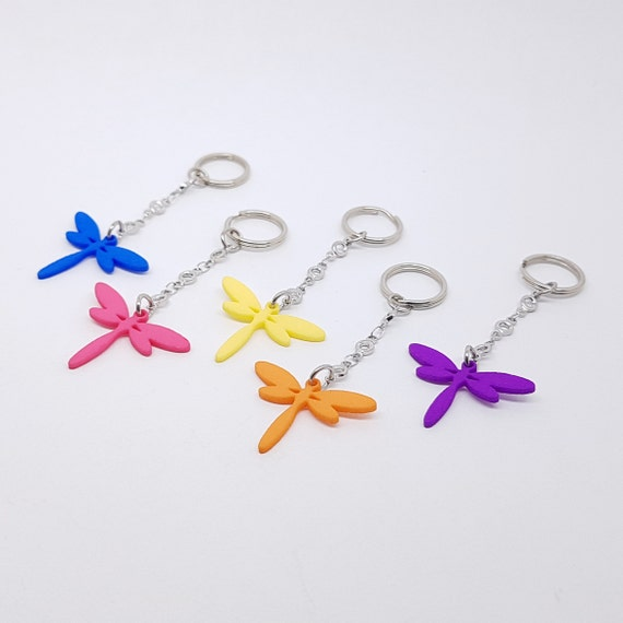 Dragonfly Key chain plastic charms in different colors Logo  742d57aa8