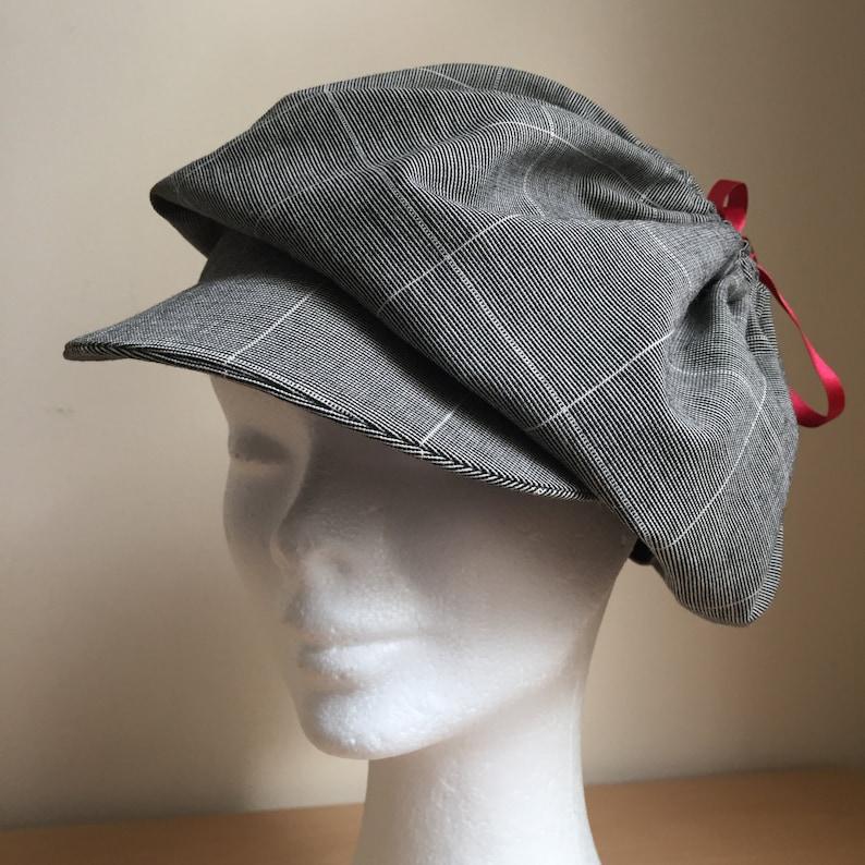 b5c7e0c95ca385 Women Beret Newsboy Cap Handmade Hat Sewn Fabric Cap | Etsy