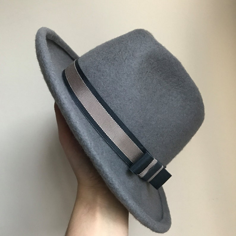 8885d249fb1 Womens and Mens Felt Trilby Fedora Hat Classic Hat Winter | Etsy