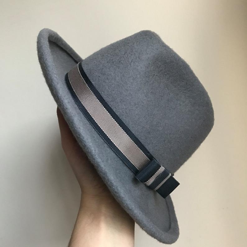 8e5f66acd339b Womens and Mens Felt Trilby Fedora Hat Classic Hat Winter | Etsy