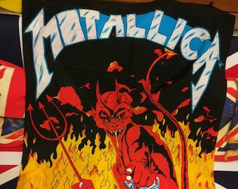 Metallica , '85 flag vintage , official 3k London , Jump in the fire !!!!