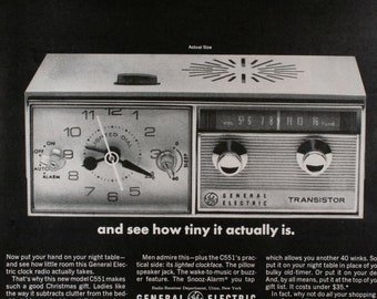 Vintage 1965 General-Electric Clock Radio Ad (65LIFE-15)