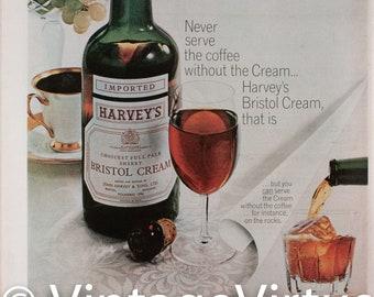 Vintage 1965 Harvey's Bristol Cream Ad (65LIFE-14)