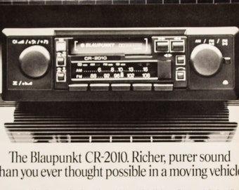 Blaupunkt CR-2010 Stereo Ad from 1982 (RT82-121)