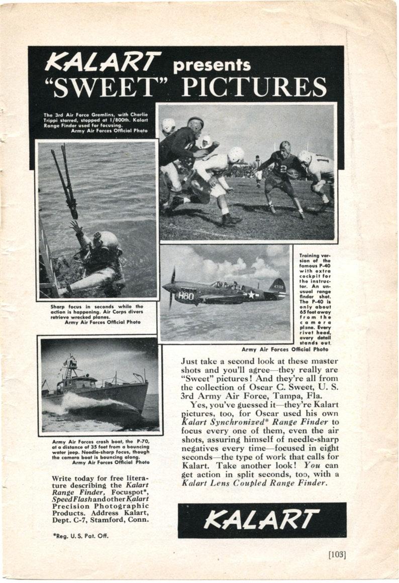 1945 Wartime Ad for Kalart Rangefinder Cameras (45-CAM-02)