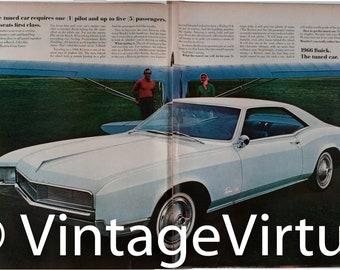 Vintage 1966 Buick Riviera Gran Sport Ad  (65LIFE-02)
