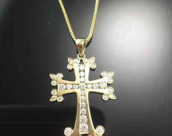 cc067fcbf1b19 Gold armenian cross | Etsy