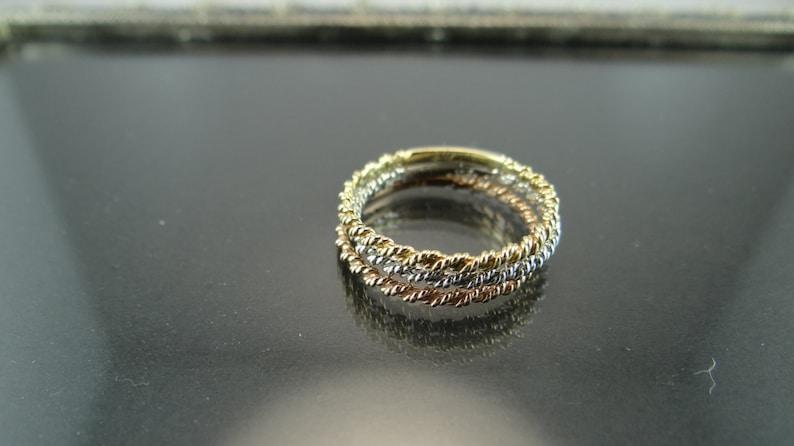 2mm White Gold Wedding Band Thin Rope Chain Band Rope Chain Design Wedding Band 2mm Twisted Rope Chain Ring 18K White Gold Rope Ring