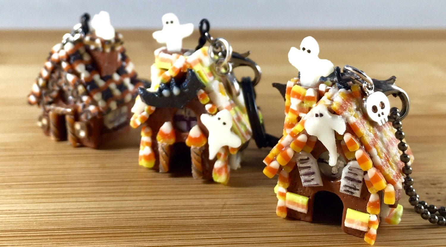 polymer clay glow in the dark miniature halloween candy gingerbread