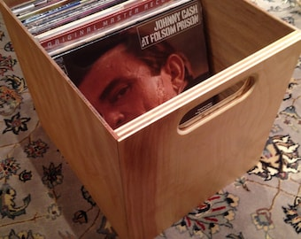Vinyl Record Storage Cube   Vinyl LP Crate   For Vinyl LP Storage And  Display   With Optional Lid!