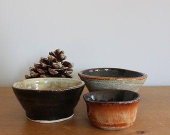 Set of three small Tapas bowls