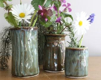 Posy vase ceramic pottery one of a kind