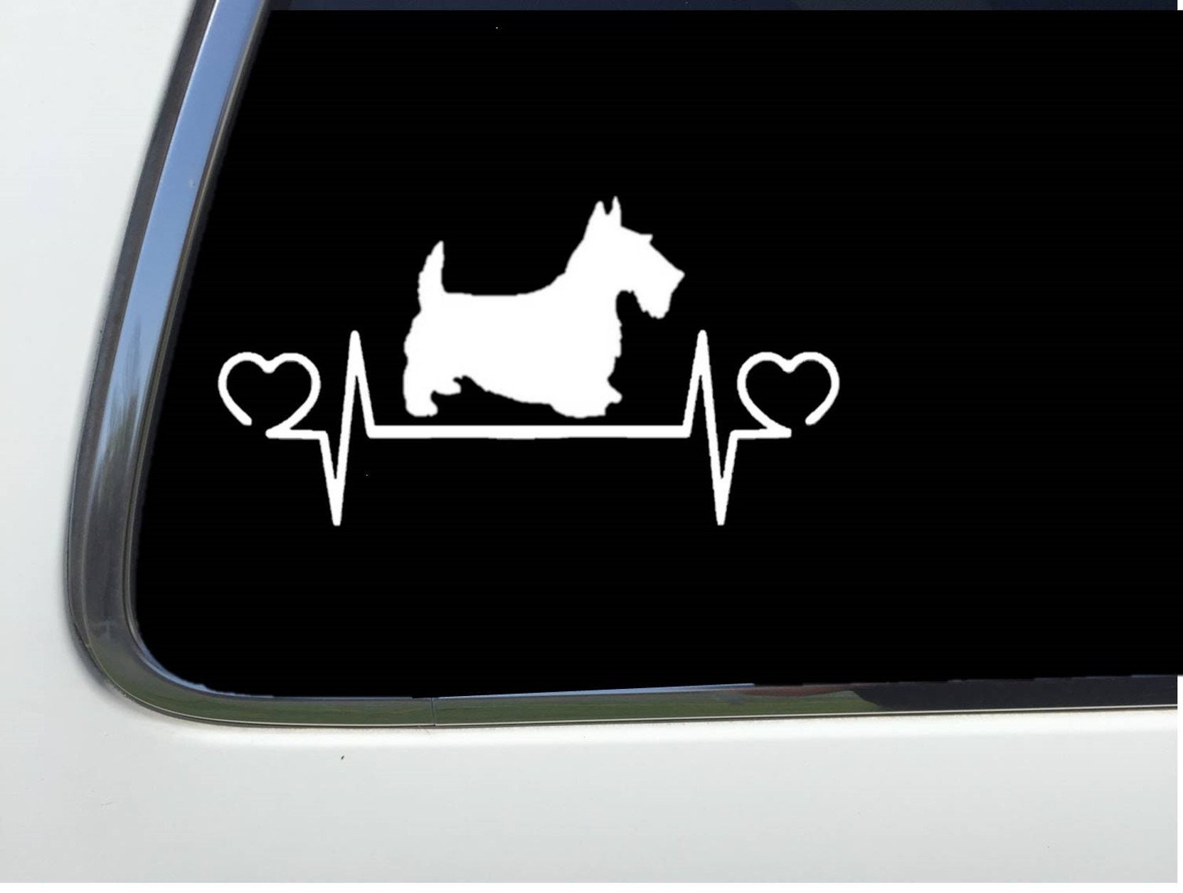 Thatlilcabin ANIMAL RESCUE WITH DOG AND CAT vinyl 8 sticker HM1813