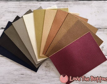 2.8 x 4 inches Sheep Faux Leather Earrings Supplies. Mini Sample Set of 25 Colors Xanabella Faux Leather Sheets Synthetic Leather