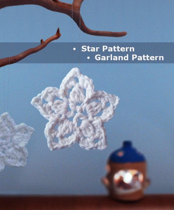 Crochet Star Pattern Crochet Star Garland Crochet Ornament Etsy