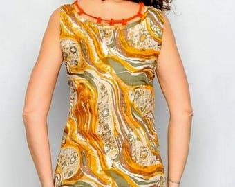 SALE Geometric Pattern Shift ROSEMARY Contrast Junior Dress