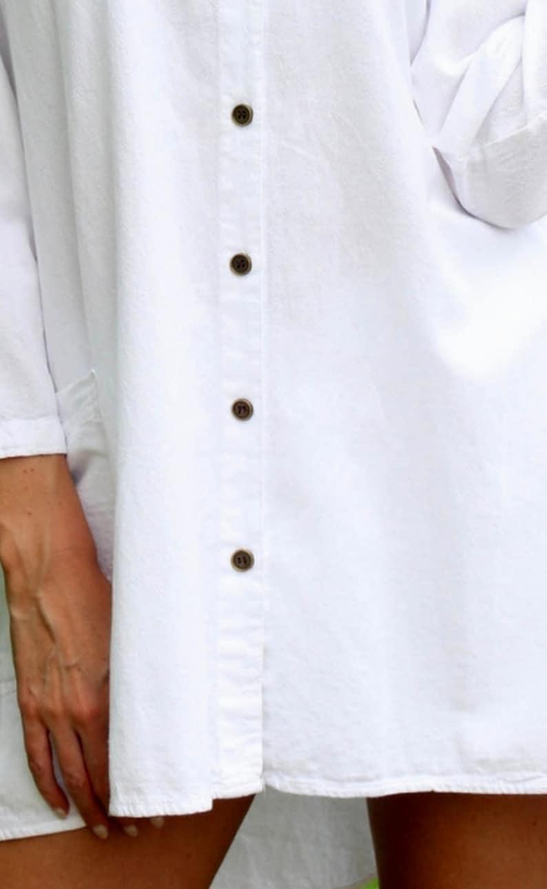 KAYMI Low High Organic Cotton  Cute Long Sleeve Country Tunic Top