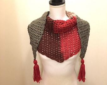 Color Block Triangle Scarf