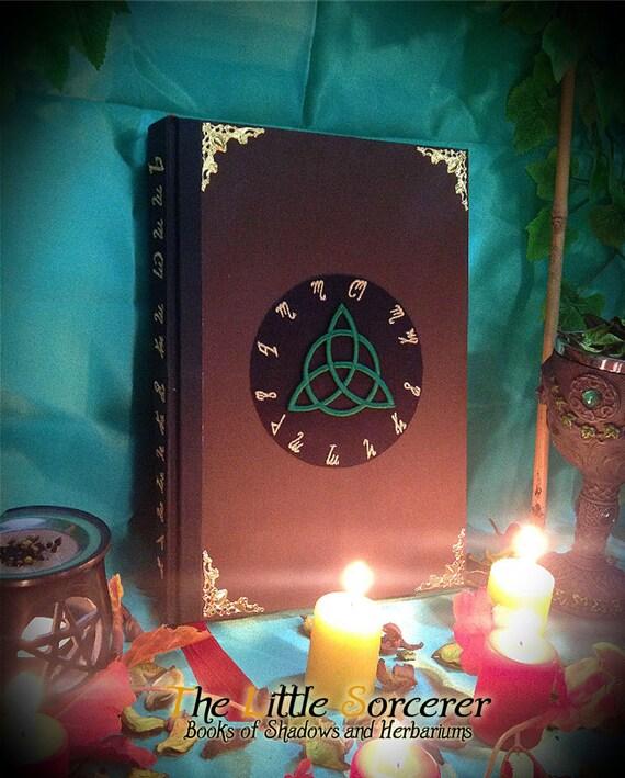 Book Of Shadows Diary Green Triquetra Medium Etsy