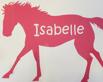 Name Horse Decal