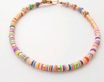Polymer clay jewelry etsy bead necklace aloadofball Gallery