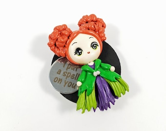 Winifred Sanderson Fridge Magnet, Hocus Pocus Decor, I Put A Spell On You Halloween Kitchen Decor, Cute Refrigerator Magnet, Witch Sisters