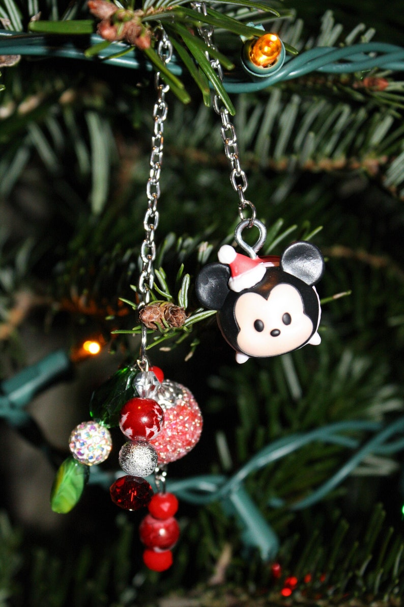 Mickey Mouse Christmas Tree.Mickey Mouse Tsum Tsum Ornament Christmas Tree Dangle Charm Personalized Disney Ornaments Disney Gifts For Adults