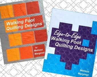 GET BOTH BOOKS - Walking Foot Quilting Designs & Edge-to-Edge Walking Foot Quilting Designs