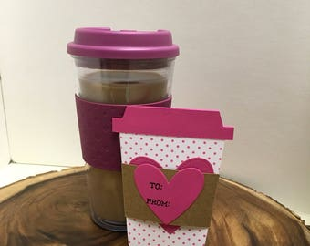 Valentine's Day gift, coffee gift card holder, unique gift card holder, coffee lover, tea lover, teacher gift, galentines day, teen gift