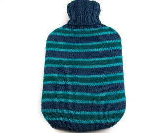 Blue and Green Hot Water Bottle Cover