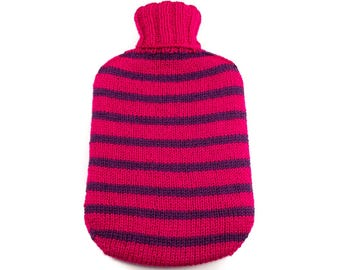 Pink and Purple Hot Water Bottle Cover