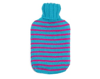 Blue and Pink Hot Water Bottle Cover