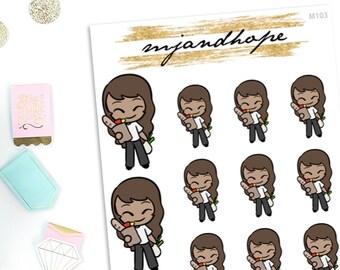 Meeya Goes Grocery Shopping - Meeya   M103   Planner Stickers   Emoji Stickers