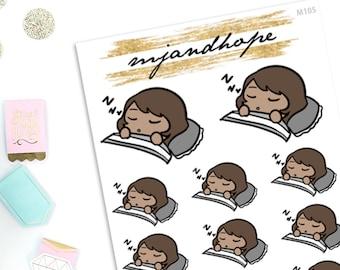 Meeya Takes a Nap - Meeya   M105   Planner Stickers   Emoji Stickers