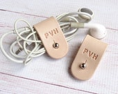 Personalised Leather Cord Organisers (Set of 2)