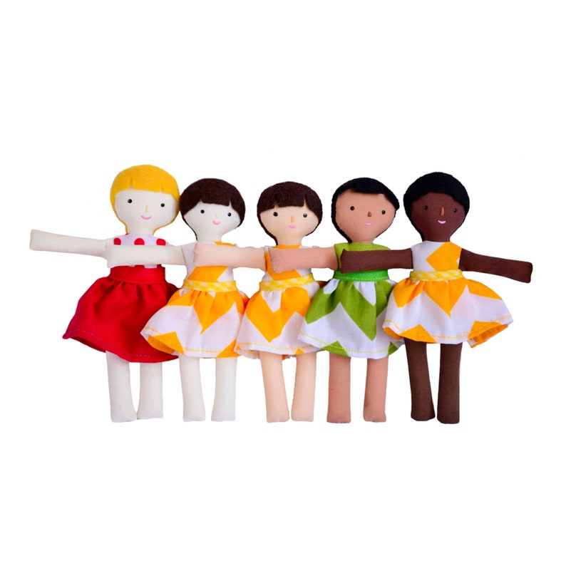 Mini girl doll with customizable options. Make your own image 0