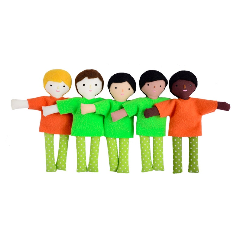 Mini boy doll with different skin color options. Make your own image 0