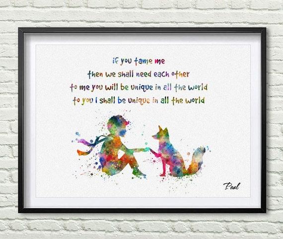 De Kleine Prins Citaten Als Je Me Temmen Dan We Zullen Moeten Elkaar Wall Art Kwekerij Decor Art Gift Le Petit Prince Wall Art P286