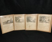 18th Century AESOP S FABLES Set Of 4 Pages