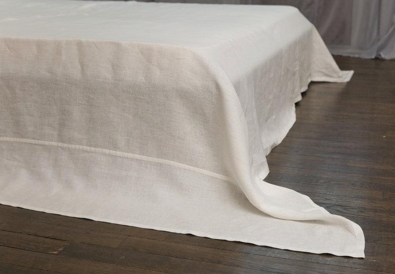 SALE Flat Linen Sheet Linen Bed Sheet King Size Linen Top Sheet