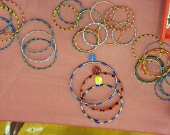 Memory wire bracelets and necklaces